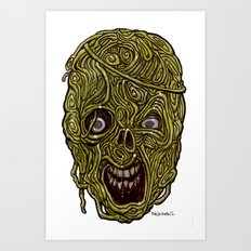 Heads of the Living Dead Zombies: Eddie Spagetti  Zombie Art Print