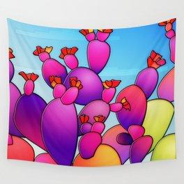 Purple Cactus berries Wall Tapestry