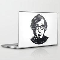woody allen Laptop & iPad Skins featuring Woody Allen by Alejandro de Antonio Fernández