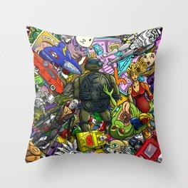 Retro Toy Box Throw Pillow