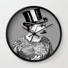 Tattooed Victorian Man Wall Clock