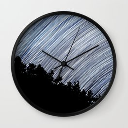 Starry Night Time Lapse Wall Clock