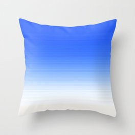 Sky Blue White Ombre Throw Pillow