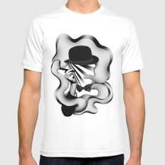 gentle smoke Mens Fitted Tee MEDIUM White