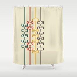 Mid Century Modern Daddy-O (gold) Shower Curtain