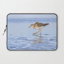 Ruff water bird (Philomachus pugnax) Ruff in water Laptop Sleeve