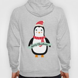 "Cute Penguin wishes ""Merry Christmas"" - X-mas Christmas Winter Design Hoody"