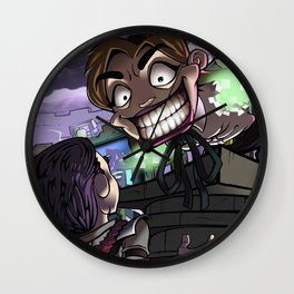 Warp-portal Sales Person Wall Clock