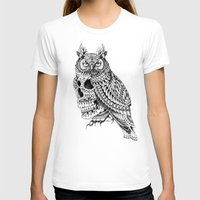 bioworkz T-shirts featuring Great Horned Skull by BIOWORKZ
