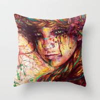 russian Throw Pillows featuring Russian braid by ururuty