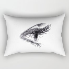 Eye handmade Drawing, Made in pencil and charcoal, Realistic Drawing Rectangular Pillow