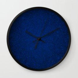 Sapphire Blue Sparkling Jewels Pattern Wall Clock