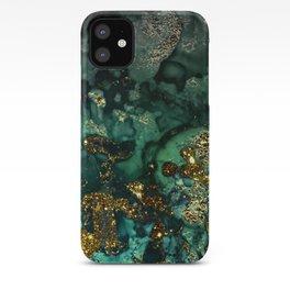 Gold Indigo Malachite Marble iPhone Case