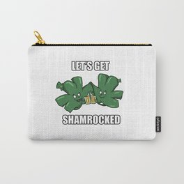Lets Get Shamerocked St Patricks Day Irish Gift Carry-All Pouch