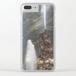 Garden Fountain Clear iPhone Case