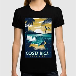 Costa Rica Vintage Travel Poster T-shirt