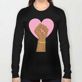 Black Lives Matter Power Fist Long Sleeve T-shirt