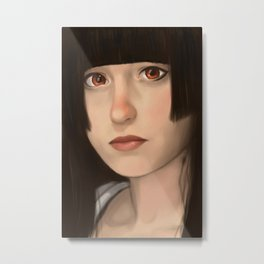 The girl from Hell Metal Print