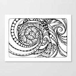 tangle geometric zen pattern Canvas Print