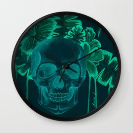 Skull jungle Wall Clock