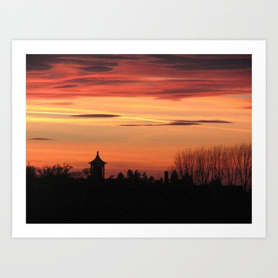 Sunset Over Ingoldisthorpe Art Print