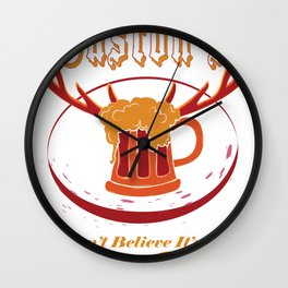Gaston's I Can't Believe It's Not Butter Beer! Wall Clock