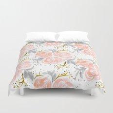 Sparkling Rosé flora Duvet Cover