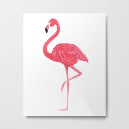 Flamingo fuchsia flap Metal Print