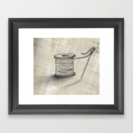 Sewing Time Framed Art Print