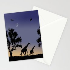 African dawn - giraffes Stationery Cards