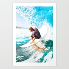 New surf Art Print