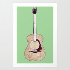Acoustic Guitar Art Print