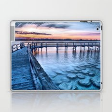 Dock on the River (Sunset) Laptop & iPad Skin
