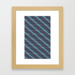 Opalescent Mermaid Scale Stripes Framed Art Print