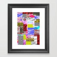 Creative cloud monument Framed Art Print