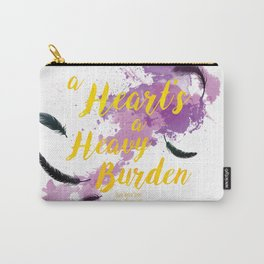 A Heart's a Heavy Burden quote from Howl's Moving Castle Carry-All Pouch