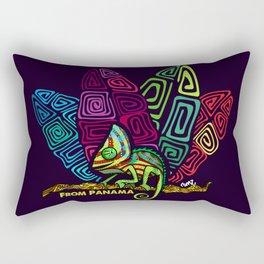 Panamanian kuna chamaleon Rectangular Pillow