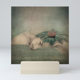 A man, the sea and a dream Mini Art Print