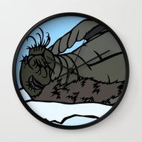 seal Wall Clocks featuring Seal by Mel McIvor