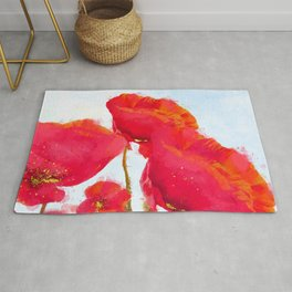 Morpheus' Garden Red Poppies Rug