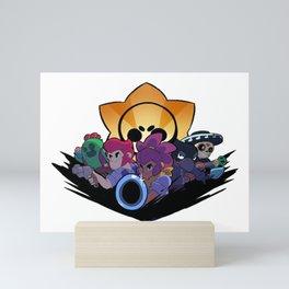 Spike, Colt, Shelly, Crow and Poco design | Brawl Stars Mini Art Print