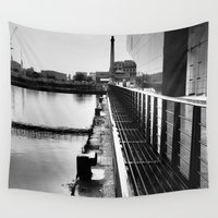 liverpool Wall Tapestries featuring Liverpool in Black and White by Caroline Benzies Photography