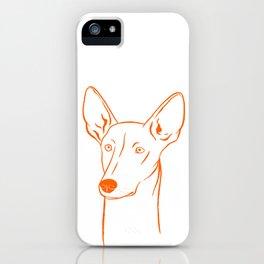 Ibizan Hound (White and Orange) iPhone Case