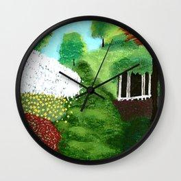 springtime Gazebo Wall Clock
