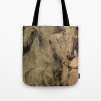 horses Tote Bags featuring Horses by MikakoskArts
