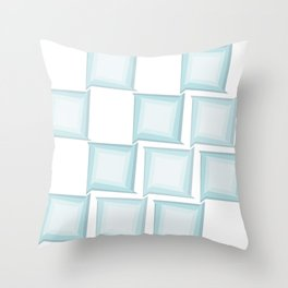 Spiral Squares Throw Pillow