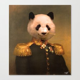 Panda Bear General | Cute Kawaii Canvas Print
