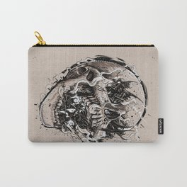 skull with demons struggling to escape Carry-All Pouch