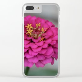 Zinnia Pink Summer Clear iPhone Case