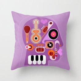 Music Head Throw Pillow